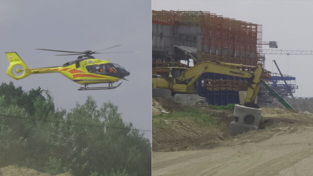 Wypadek na budowie Południowej Obwodnicy Warszawy. Nie żyje robotnik