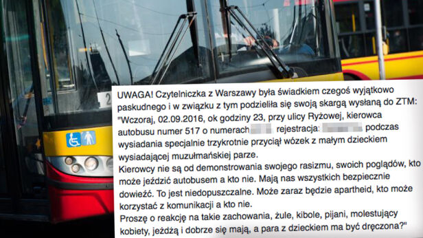 Incydent w autobusie Facebook, tvnwarszawa.pl