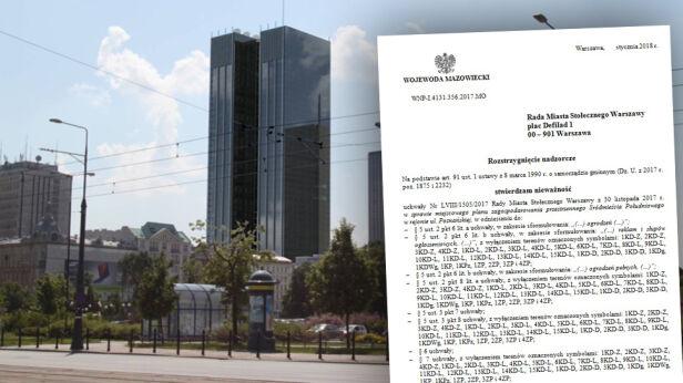 Wojewoda unieważnił część planu Śródmieścia Materiały Wojewody Mazowieckiego / Materiały inwestora