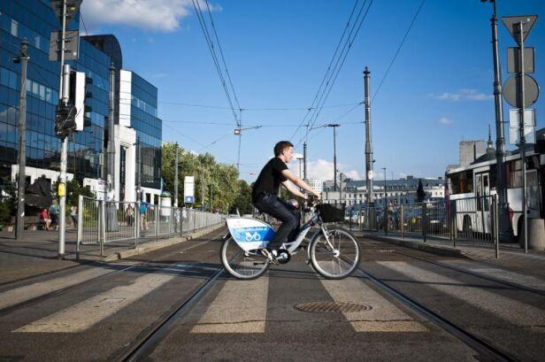 W stolicy w ciągu ostatnich kilku lat przybyło rowerzystów ZTM
