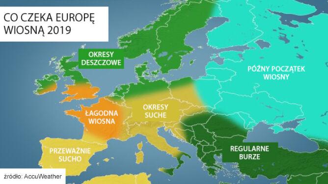 Co czeka Europę wiosną 2019? (TVN Meteo za AccuWeather)