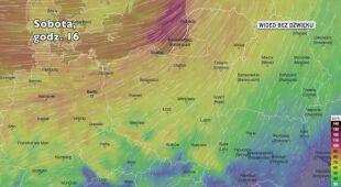 Porywy wiatru w kolejnych dniach (Ventusky.com)
